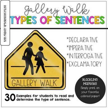 Four Types of Sentences Gallery Walk