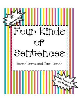 Four Types of Sentences Game