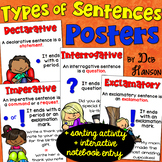 Types of Sentences Posters, Sort, and Notebook Activity: FREE!