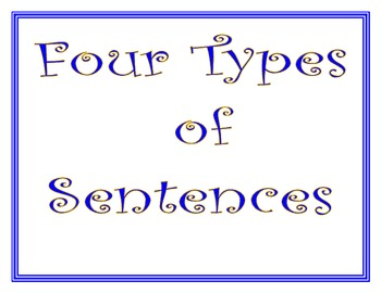 Four Types of Sentences Signs/Posters