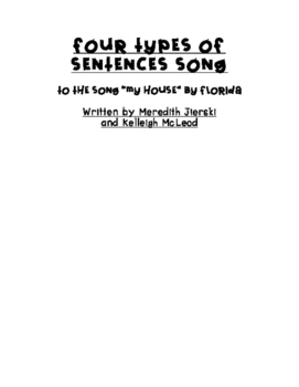 Four Types of Sentences Song