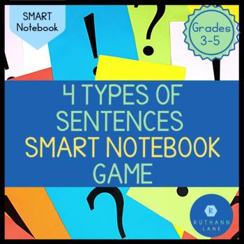 Four Types of Sentences Sort for SMARTNotebook