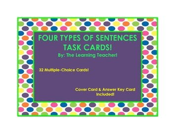 Four Types of Sentences Task Cards!