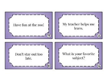 Four Types of Sentences Task Cards