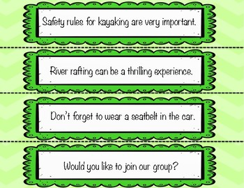 NO PREP Four Types of Sentences Zip, Zap, Zop! Game