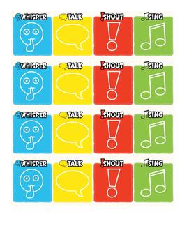 Four Vocies Popsicle Stick Cards