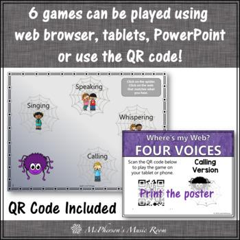Four Voices Bundle {Interactive Music Games & Assessments} calling version