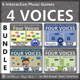 Four Voices Bundle {Interactive Music Games & Assessments} shouting version