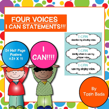 Four Voices I Can Statements