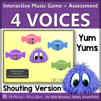 Four Voices - Interactive Music Game Yum Yums {monsters} shouting version