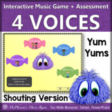 Four Voices: Interactive Music Game + Assessment Shouting Version {Yum Yums}