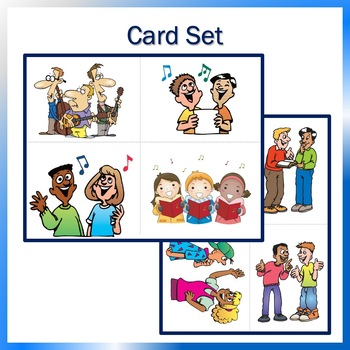 Card Set for Music, K-1st: Four Voices