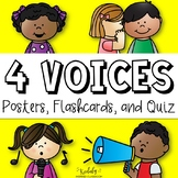 Four Voices Posters, Cards, and Assessment