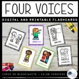 Four Voices Posters and Flashcards