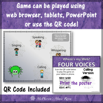 Four Voices Interactive Music Game {Where's My Web?} calling version