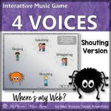 Four Voices: Interactive Music Game shouting version {Web}