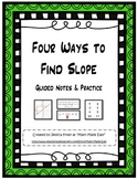 Four Ways to Find Slope - Guided Notes and Practice
