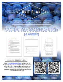 UNIT PLAN - 6th Grade Computer Science (4 Week Extension) using Hopscotch App