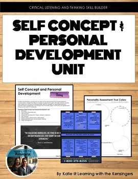 Four Week Unit: Self Concept and Personal Development