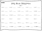 Four Weeks of Daily Multiplication Review