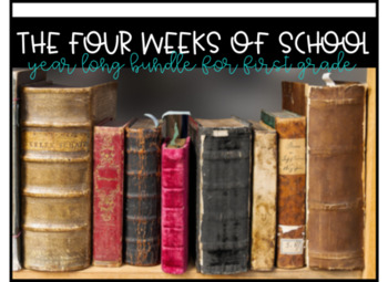 Four Weeks of School Year Long Bundle for Literacy