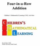 Four in a Row Addition Fun Math Game