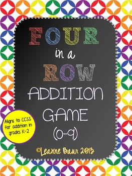 Four in a Row Addition Game