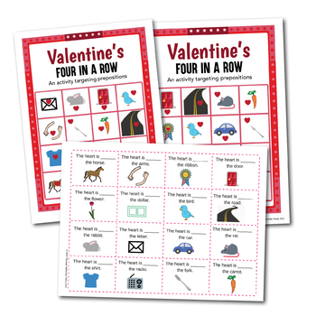 Valentine's Four in a Row - An Activity Targeting /r/ Across All Positions!