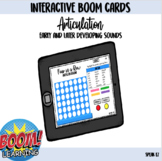 Four-in-a-Row Interactive Boom Card Game for Articulation