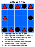 Four in a Row Board Game + PowerPoint + Free Bonuses