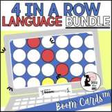 Four in a Row Boom Cards™ BUNDLE  for Language | Speech Therapy  | 4 in a Row