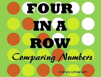 Four in a Row Comparing Numbers Game