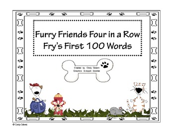 Four in a Row Game : Fry's First 200 Words