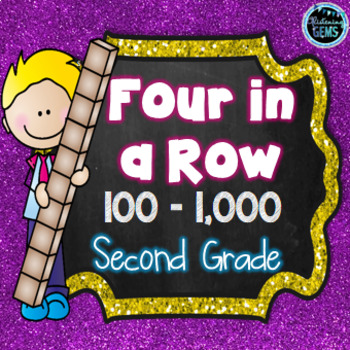 Four in a Row Game -  Numbers 100 - 1000