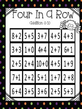 Four-in-a-Row Halloween Theme