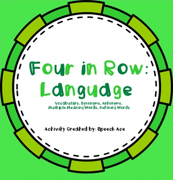Four in a Row: Language