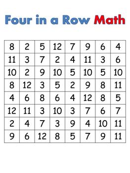 Four in a Row Math
