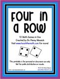 Four in a Row - Math Computation Games