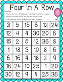 Four in a Row Multiplication Math Game