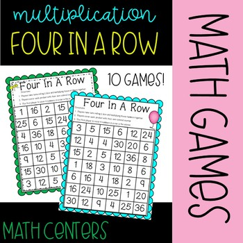 """""""Four in a Row"""" Multiplication Games"""