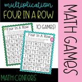 Four in a Row Multiplication Game BUNDLE!