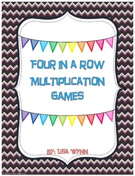 Four in a Row Multiplication Games