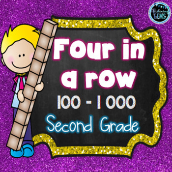 Four in a Row - Number Math Games Bundle - K-3
