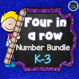 Four in a Row Number Games Bundle - K-3  | Math Games