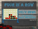 Four in a Row: Open 2- Syllable Word Rule Breakers