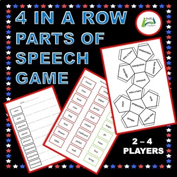 Four in a Row Parts of Speech Game