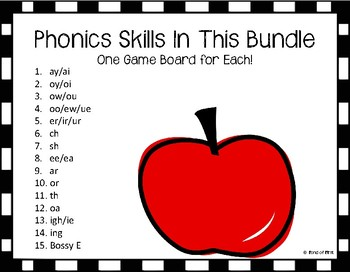 Four-in-a-Row Phonics Game (Bundle)