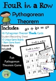 Four in a Row Pythagorean Theorem Game
