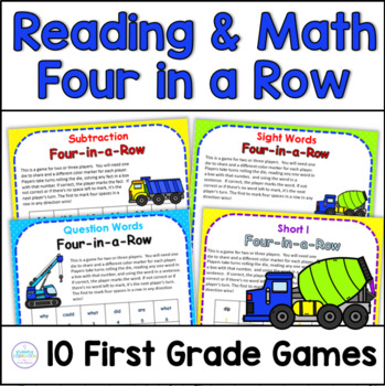 Four-in-a-Row Reading and Math Games
