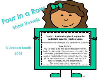 Four in a Row - Short Vowels